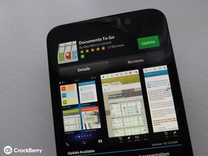 Documents to Go gets updated for BlackBerry 10 devices