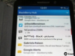 How to turn off BBM Group picture notifications in the BlackBerry Hub