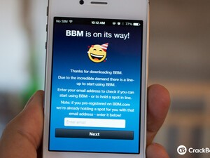 Reminder: BBM for iOS and Android is still on a wait list, but it's moving fast!
