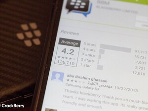 Ridiculous Android reviews didn't exactly start with BBM