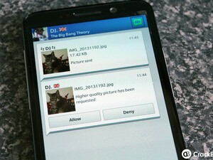How to request higher quality photos via BBM
