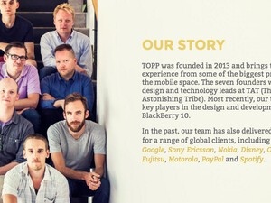 Apparently a lot of that TAT (The Astonishing Tribe) talent left BlackBerry Sweden to start a new company called TOPP...