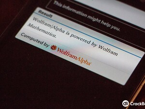 BlackBerry OS 10.2 gets some Wolfram Alpha love
