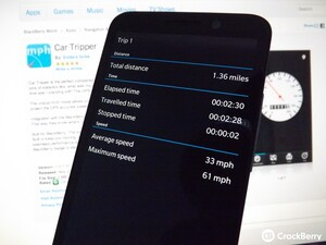 Tracking, mapping and a HUD - all with Car Tripper for BlackBerry 10