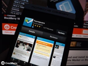 Foursquare for BlackBerry 10 updated with fixes and improvements