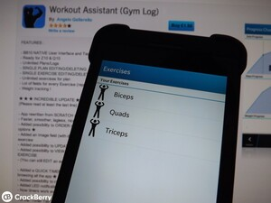 Workout Assistant for BlackBerry 10 gets rewritten and updated