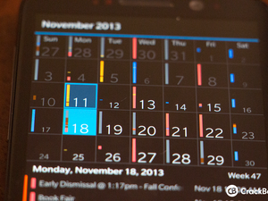 Quick Tip: Pinch-to-zoom your BlackBerry 10 calendar for easy viewing