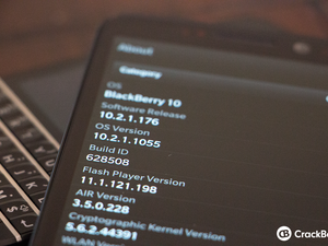 BlackBerry 10 Master Change Log
