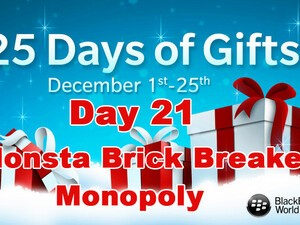 Monsta Brick Breaker and Monopoly - Day 21 of BlackBerry's 25 Days of Gifts