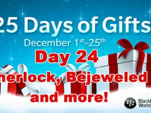 Sherlock, Bejeweled 2 and more - Day 24 of BlackBerry's 25 Days of Gifts