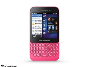 One for the ladies? The Pink BlackBerry Q5 goes on sale in Dubai