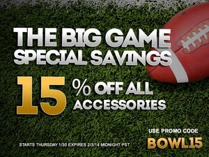 Save 15% on ALL BlackBerry cases and accessories at ShopCrackBerry during THE BIG GAME Sale!