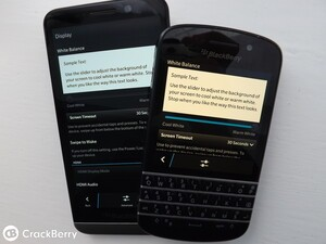 How to alter the white balance with BlackBerry OS 10.2.1