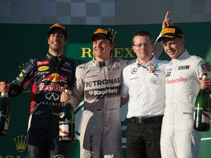 Team Mercedes / BlackBerry gets the win at the Australian Grand Prix