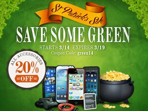 ShopCrackBerry Sale: Save Some Green for St. Patrick's Day!
