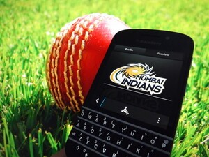 BlackBerry India partner up with premier cricket team Mumbai Indians