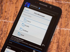 Filing of sent messages will return in BlackBerry OS 10.3