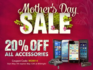 Mother's Day Sale: Save 20% on all BlackBerry accessories!