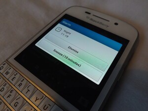 One small improvement I'd like to see to the BlackBerry alarm clock