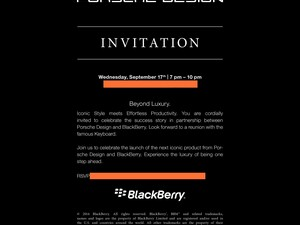 Porsche Design P'9983 launch event on Sept. 17th