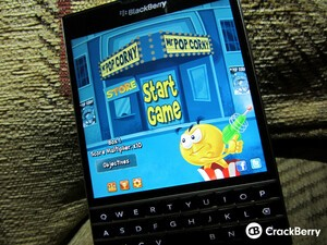 Pop Corny gets BlackBerry Passport support