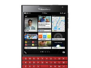 This is the red BlackBerry Passport!