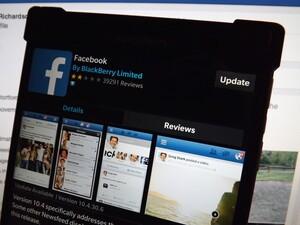 Facebook for BlackBerry 10 updated