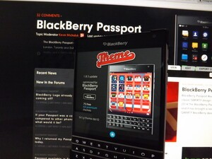 Theme for BlackBerry 10 gets updated with Passport support