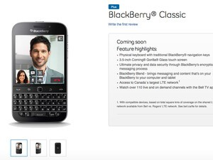 Bell to carry the BlackBerry Classic in Canada