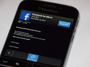 Facebook for BlackBerry 10 updated in the  Beta Zone