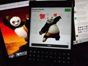 Kung Fu Panda stickers arrive in the BBM Shop