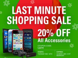 20% off all BlackBerry Accessories