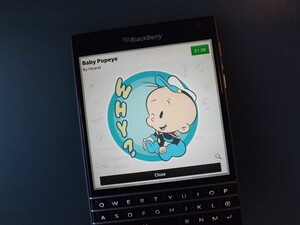 Baby Popeye and Pro Football BBM Stickers now available