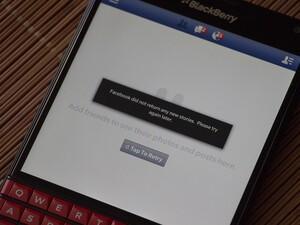 Facebook app not updating? BlackBerry is aware [Updated]