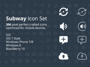 Subway icon set from Pixle now available for free on Github
