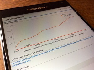 Native Data Monitor function in BlackBerry 10.3.1