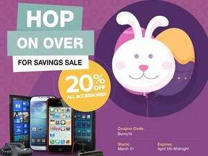 Easter Sale: 20% off BlackBerry accessories