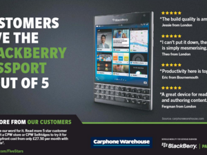 BlackBerry and Carphone Warehouse team up for new ad run
