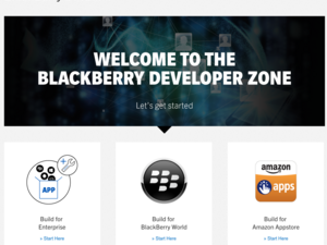 BlackBerry has refreshed their Developer Zone website