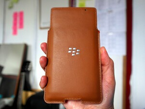 The BlackBerry Priv OEM Leather Pouch is business class
