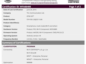 TCL-built BlackBerry Hamburg appears in new documents