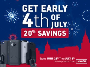 Save 20% on his fourth of July sale