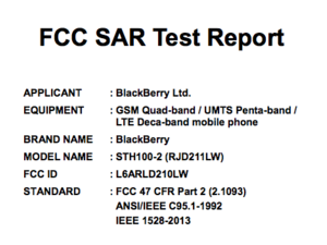 BlackBerry Hamburg / Neon built by TCL turns up at the FCC