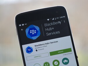 BlackBerry pushes latest build of Hub+ Services out