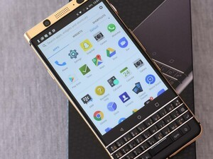 The BlackBerry KEYone looks even better with a touch of gold added to it!