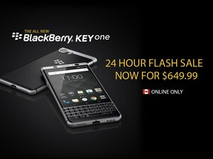 Canadians can grab a BlackBerry KEYone for only $650 for the next 24-hours!
