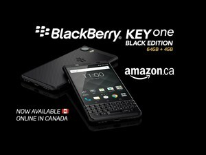 BlackBerry KEYone Black Edition now available from Amazon Canada!