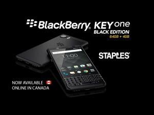 BlackBerry KEYone Black Edition now available from Staples Canada!