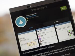 Chat for Telegram arrives in BlackBerry World for BlackBerry 10