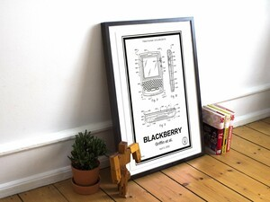 BlackBerry patent hardwood print giveaway!